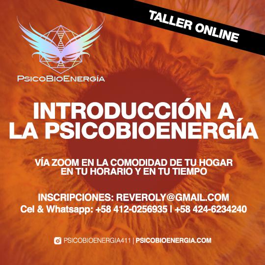 TALLER ON LINE Introducción a la Psicobioenergía