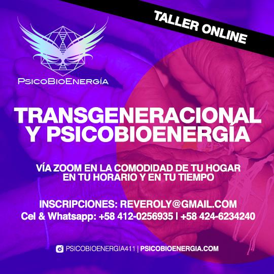 TALLER ON LINE Transgeneracional y Psicobioenergía